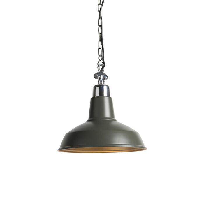 Hanglamp-Goliath-medium-olijfgroen