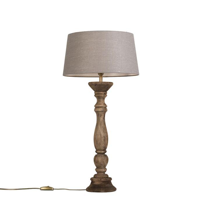 Tafellamp-Ritual-naturel-met-kap-35cm-oud-grijs