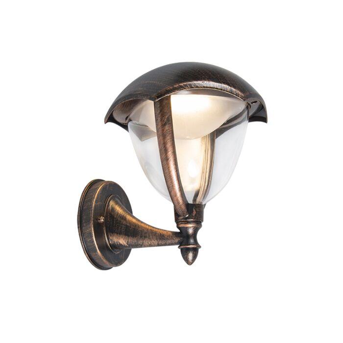 Moderne-buitenlamp-up-antiek-roest-incl.-LED---Cappe