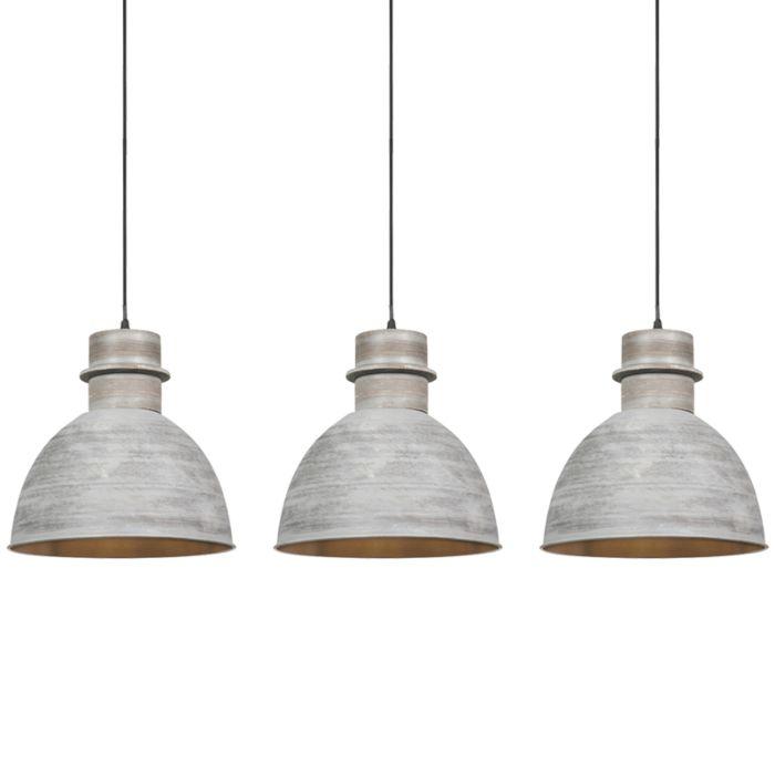 Set-van-3-landelijke-hanglampen-grijs---Dory