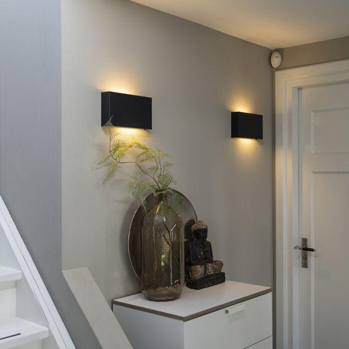 Moderne-wandlamp-zwart---Otan