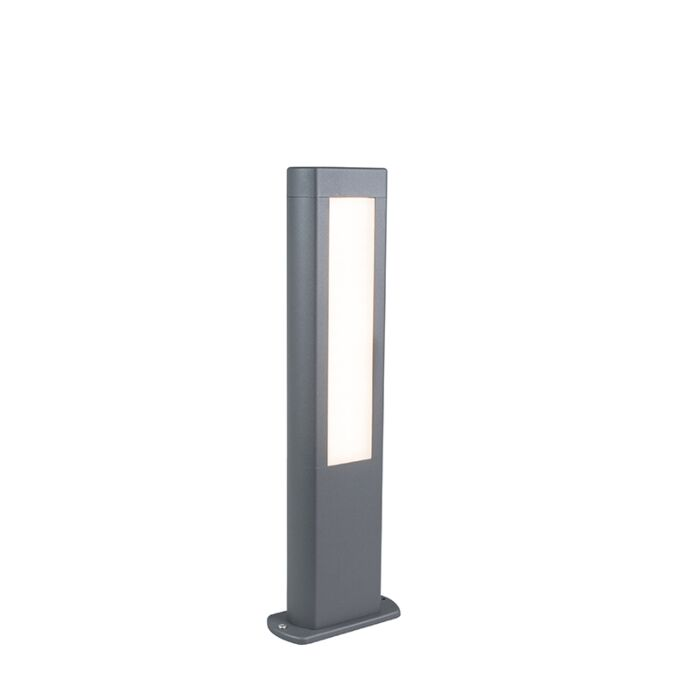 Moderne-buitenlamp-paal-donkergrijs-50cm-incl.-LED---Polo