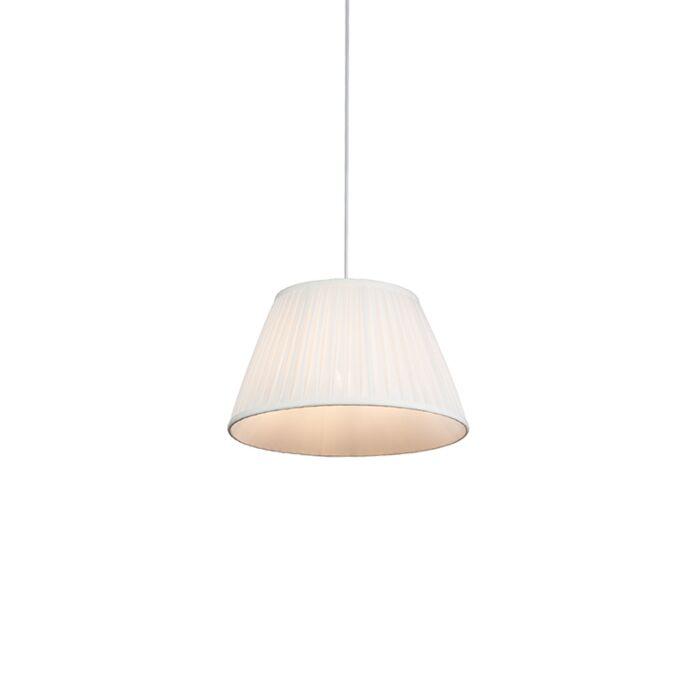 Retro-hanglamp-crème-35-cm---Plisse