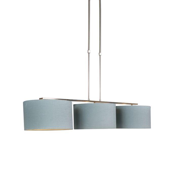 Hanglamp-staal-met-kap-35-cm-mineraal---Combi-3-Deluxe