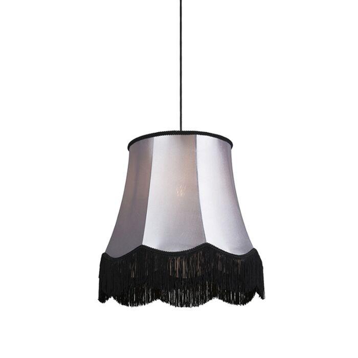 Retro-hanglamp-zwart-met-grijs-45-cm---Granny