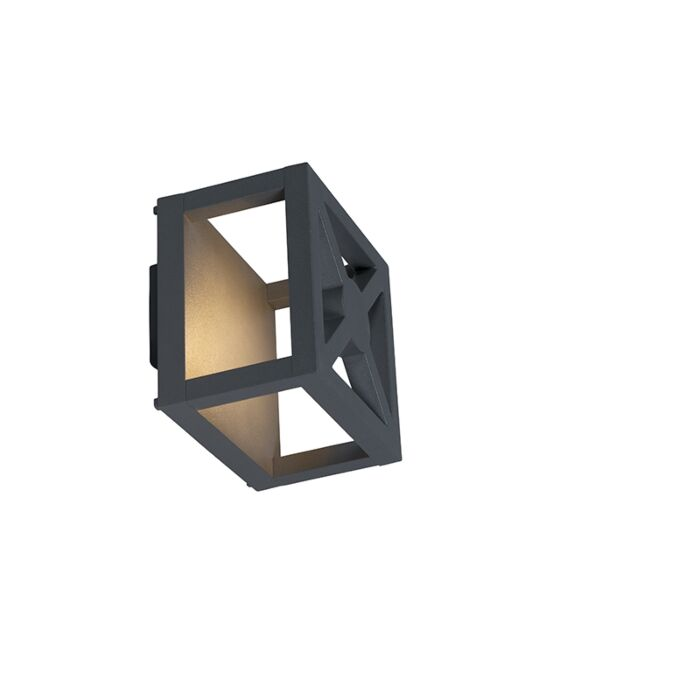 Buitenlamp-Trace-wand-LED-grijs