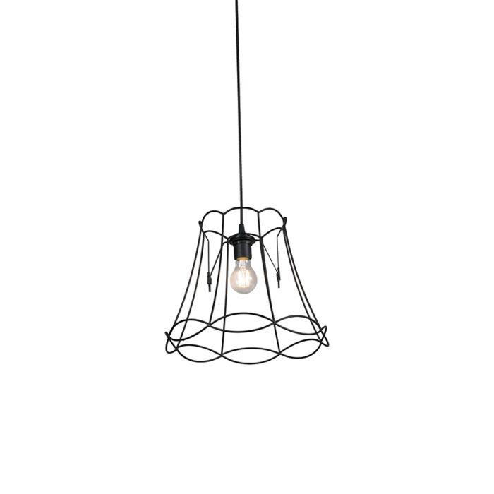 Retro-hanglamp-zwart-35-cm---Granny-Frame