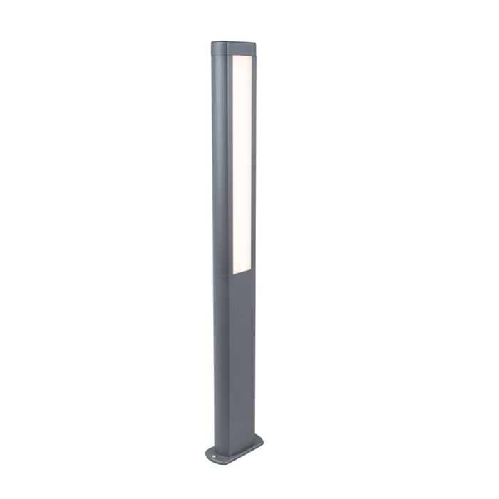 Moderne-buitenlamp-paal-donkergrijs-incl.-LED-100cm---Polo