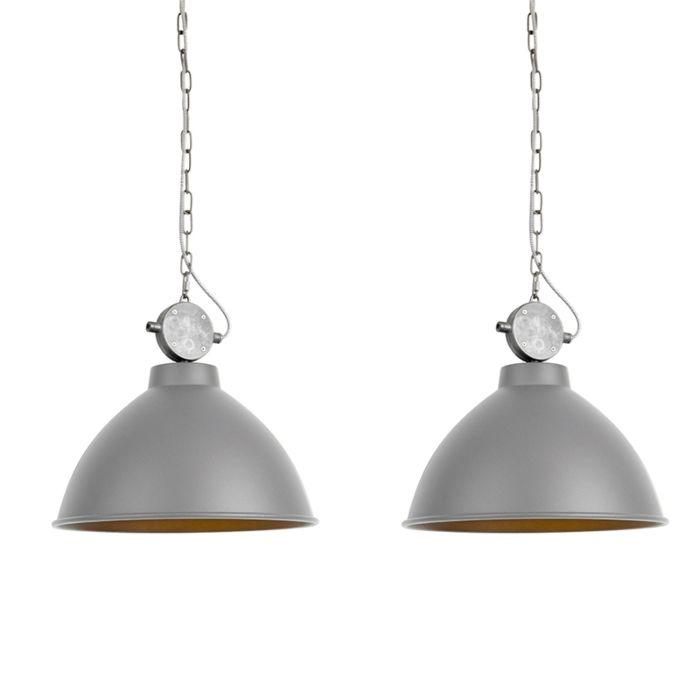 Set-van-2-landelijke-hanglampen-grijs---Anterio-38
