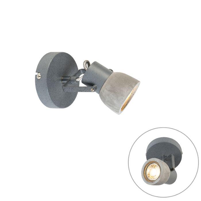 Industriele-ronde-spot-grijs-beton-1-lichts---Creto