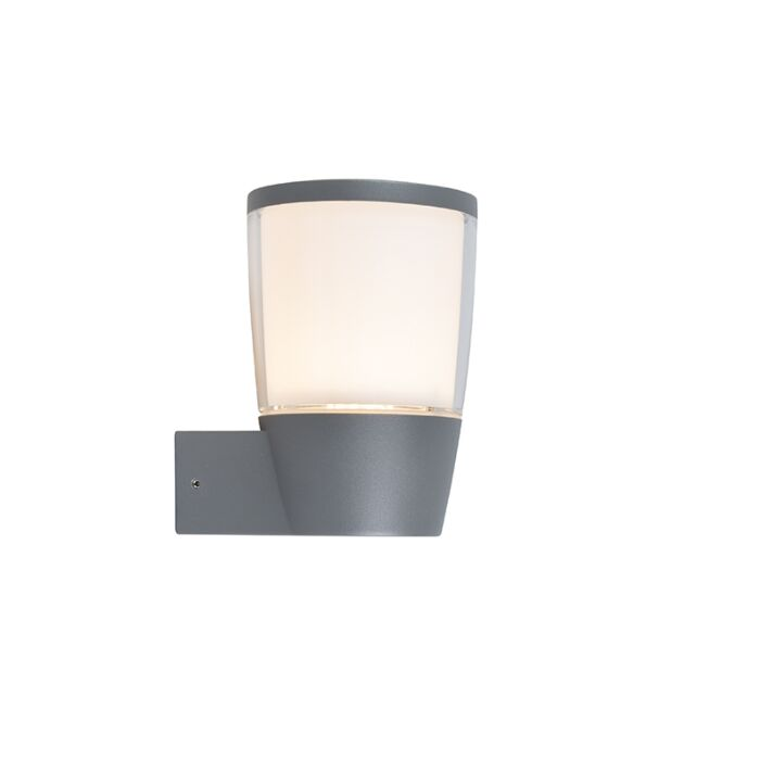 Moderne-buitenlamp-wand-donkergrijs-incl.-LED---Mona