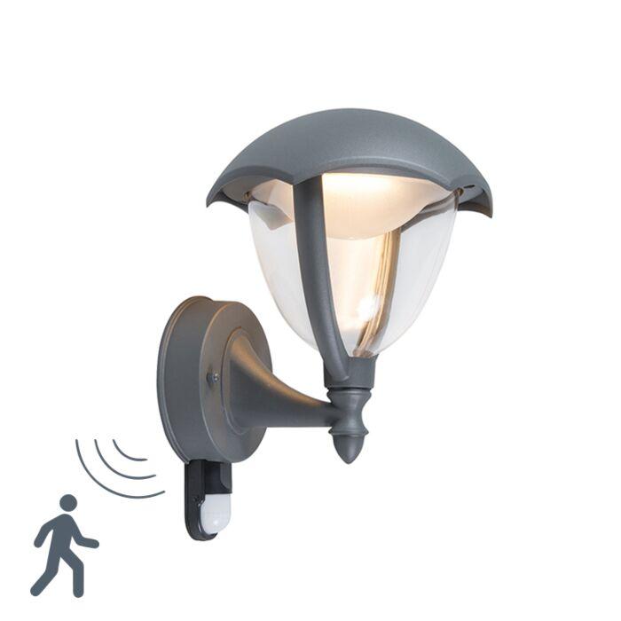 Moderne-buitenlamp-up-donkergrijs-LED-met-bewegingsmelder---Cappe