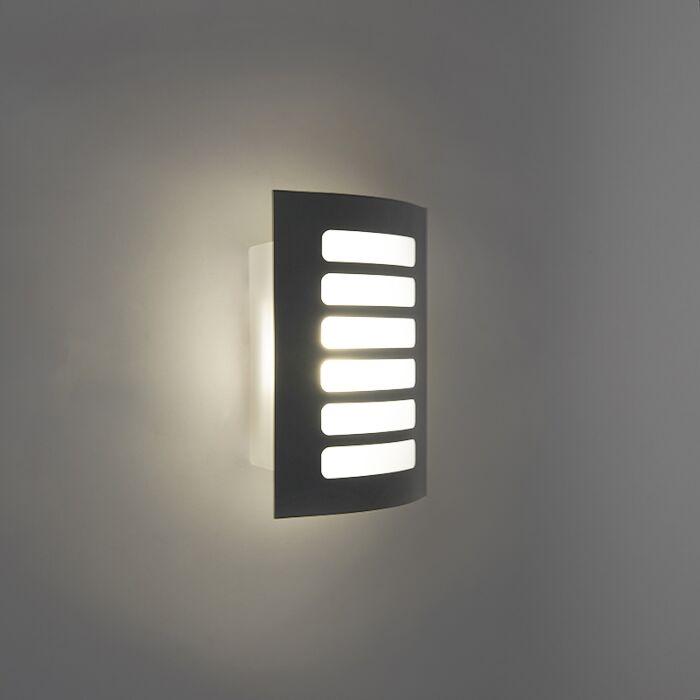 Buitenlamp-Grid-LED-donker-grijs
