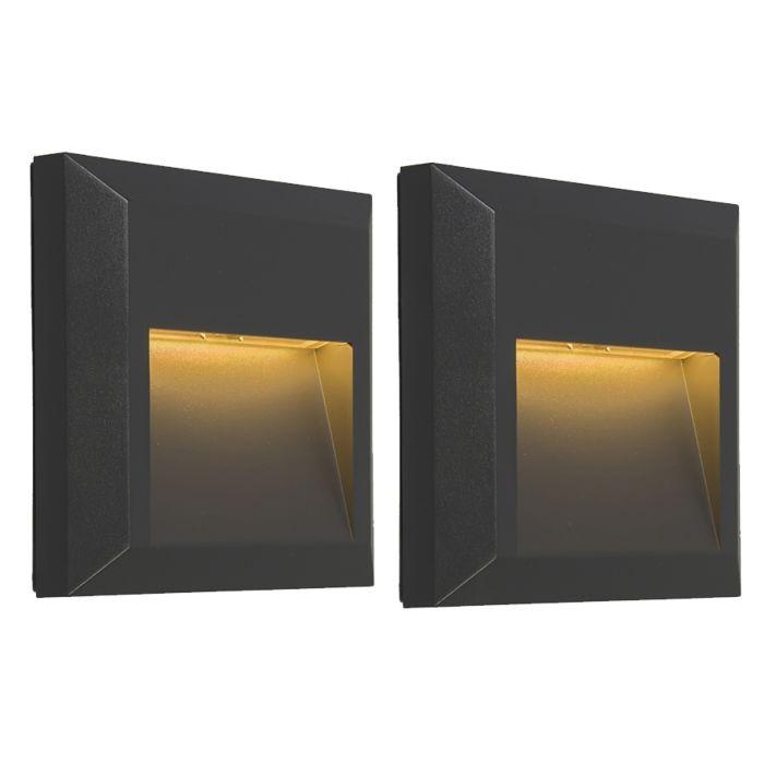 Set-van-2-moderne-wandlampen-donkergrijs-incl.-LED---Gem-2