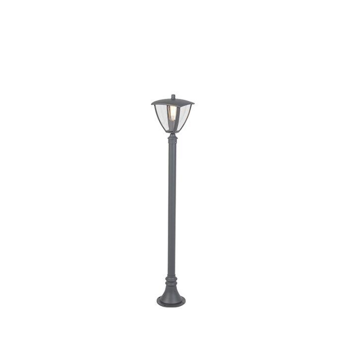 Moderne-buitenlantaarn-donkergrijs-136,5-cm---Platar