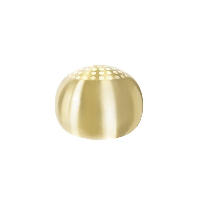 Ronde-kap-33/20-mat-messing---Globe