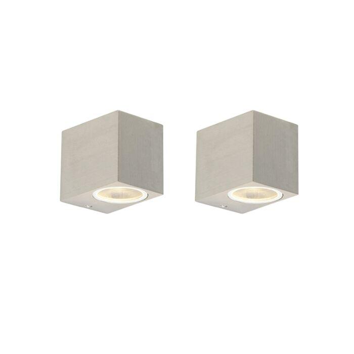 Set-van-2-moderne-wandlampen-staal-IP44---Baleno-I