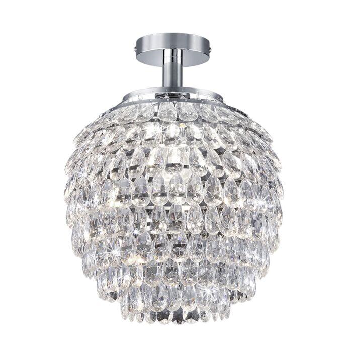 Klassieke-ronde-plafondlamp-chroom---Petty