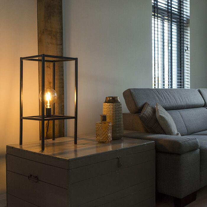 Moderne-tafellamp-zwart-1-lichts---Big-Cage