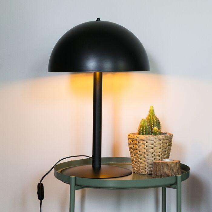 Industriële-tafellamp-zwart-met-goud---Magna