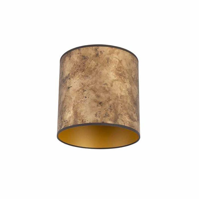 Lampenkap-brons-25/25/25-met-gouden-binnenkant