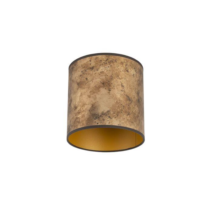 Lampenkap-brons-20/20/20-met-gouden-binnenkant