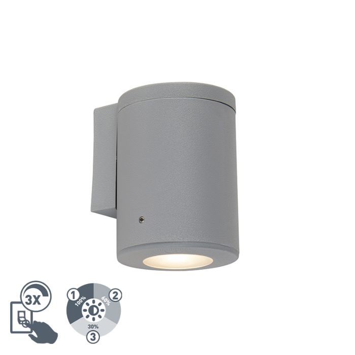 Moderne-wandlamp-grijs-IP55-incl.-1-x-GU10---Franca
