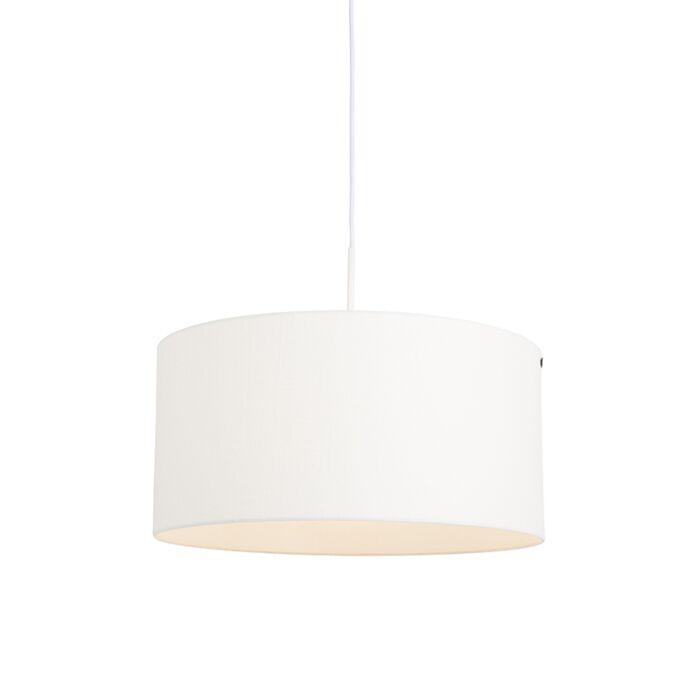 Moderne-hanglamp-wit-met-witte-kap-50-cm---Combi-1