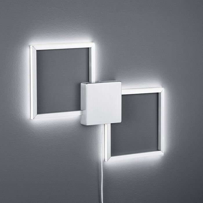 Moderne-wandlamp-staal-incl.-LED---Carpo