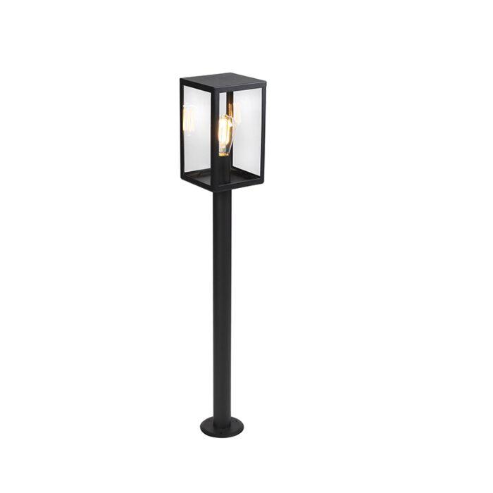 Moderne-buitenlamp-zwart-met-glas-100,5-cm---Rotterdam