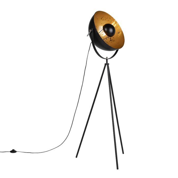 Industriële-vloerlamp-tripod-zwart---Magna-40-Eglip