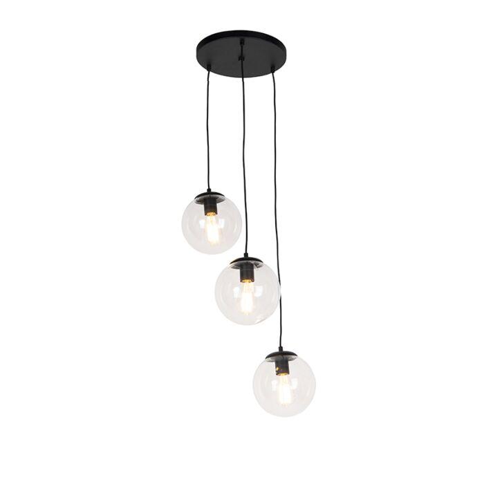 Art-deco-hanglamp-zwart-3-lichts---Pallon