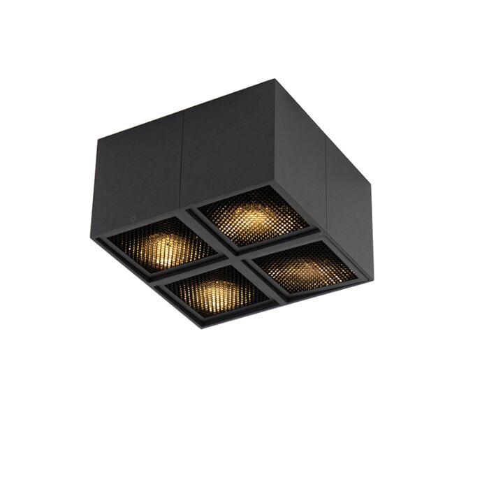 Design-spot-zwart-4-lichts---Qubo-Honey