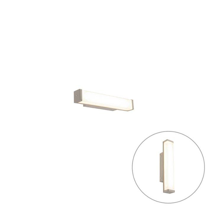 Badkamer-wandlamp-staal-32-cm-incl.-LED-IP44---Cascada