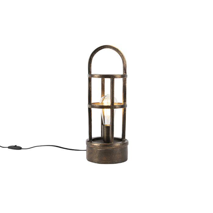 Art-Deco-tafellamp-brons-41-cm---Kevie