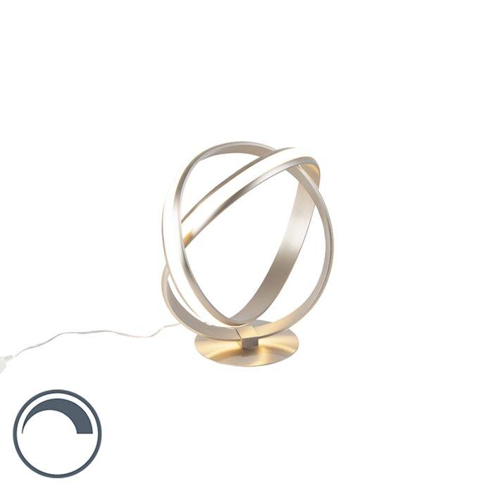 Moderne-tafellamp-staal-LED-incl.-dimmer---Belinda