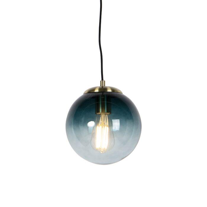 Art-deco-hanglamp-messing-met-oceaanblauw-glas-20-cm---Pallon