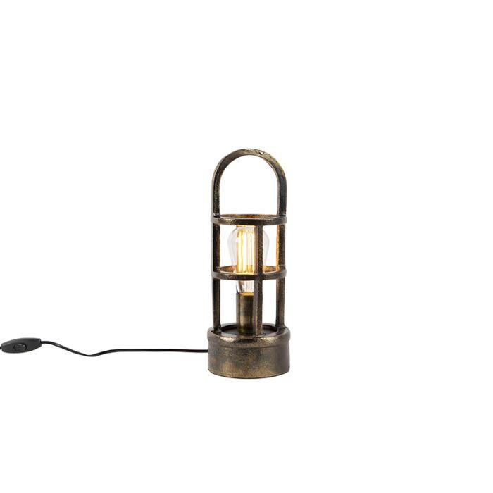 Art-Deco-tafellamp-brons-35-cm---Kevie