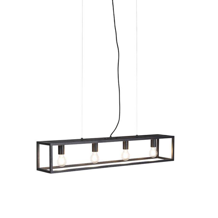 Industriële-hanglamp-zwart---Cage-4-