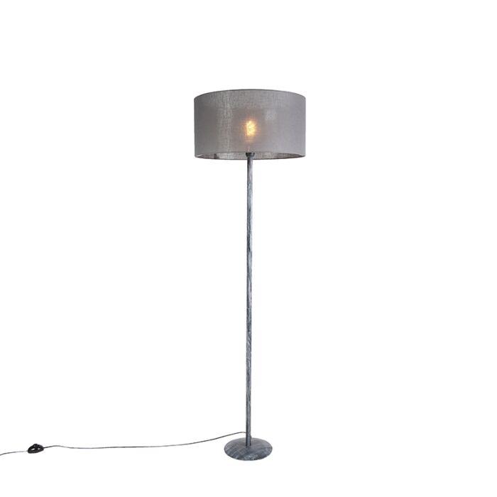 Vloerlamp-grijs-met-grijze-kap-50-cm---Simplo