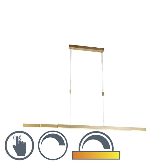 Verstelbare-hanglamp-messing-dim-to-warm-incl.-LED---Juliet