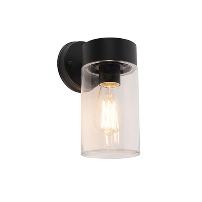 Moderne-wandlamp-zwart-26,8-cm-IP44---Jarra