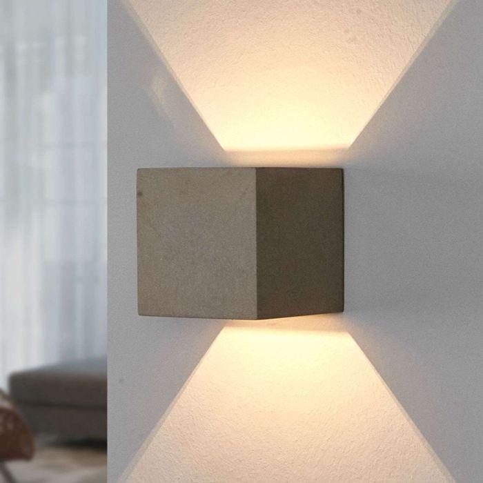 Strakke-vierkante-wandlamp-beton---Jayden