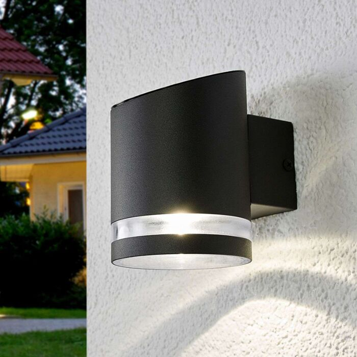 Buiten-wandlamp-antraciet-incl.-LED-op-solar---Melinda