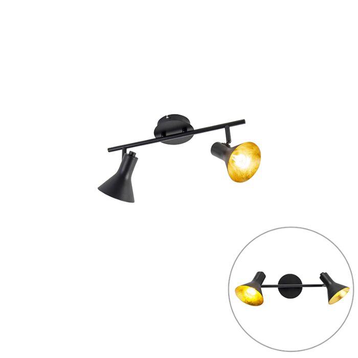 Moderne-spot-zwart-2-lichts---Magno-Vato