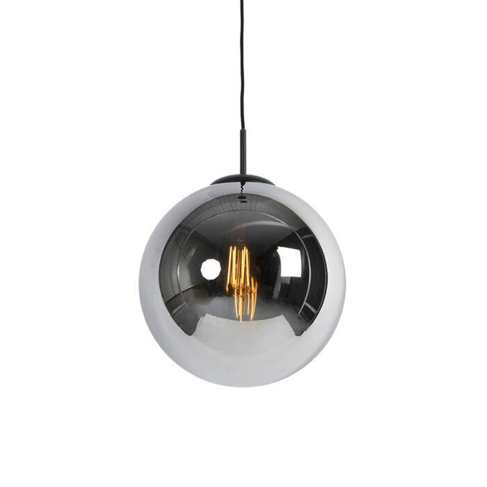 Art-deco-hanglamp-zwart-met-smoke-glas-1-lichts---Pallon