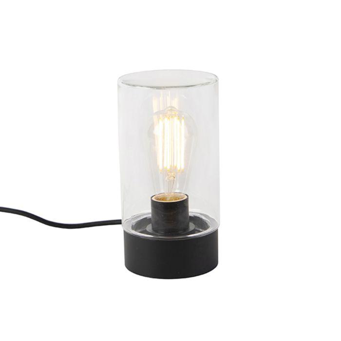 Moderne-buitentafellamp-zwart-IP44---Jarra