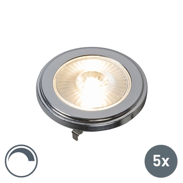 Set-van-5-G53-dimbare-AR111-LED-lamp-10W-800LM-3000K