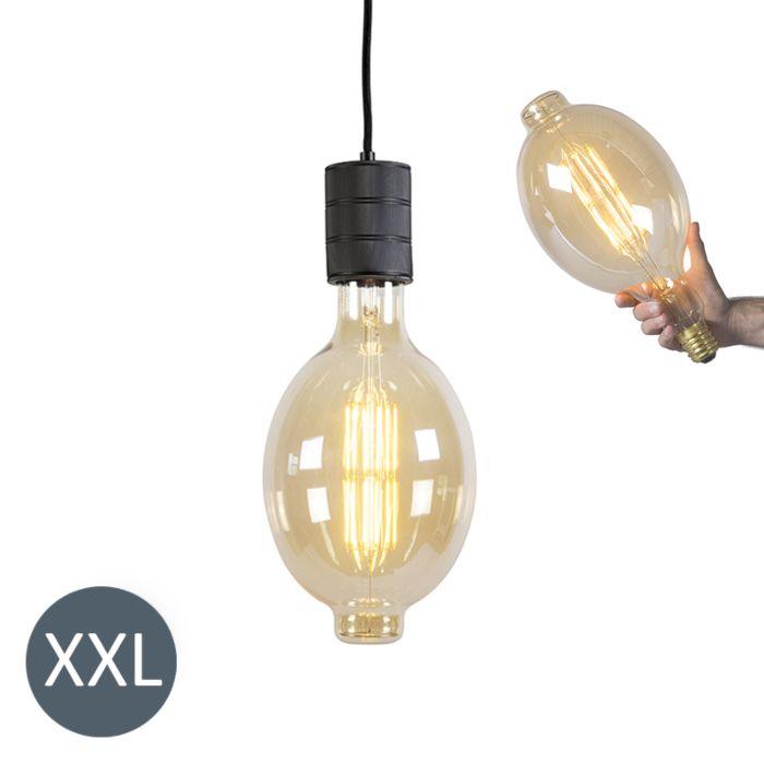 Hanglamp-Colosseum-zwart-met-dimbare-LED-lamp