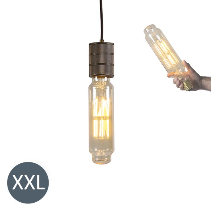 Hanglamp-Tower-brons-met-dimbare-LED-lamp